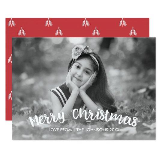 モダンなクリスマスの休日の写真カード 12.7 X 17.8 インビテーションカード