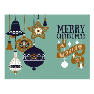 モダンなクリスマスの挨拶状 ポストカード