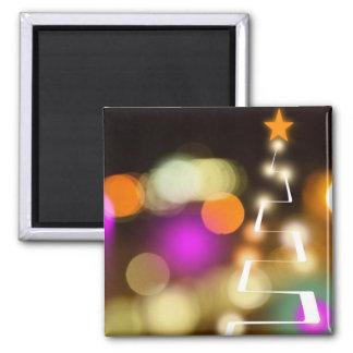 モダンなクリスマスツリーおよびライト マグネット