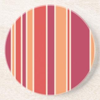 モダンなザクロは縞で飾ります コースター