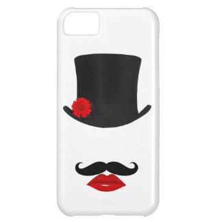 モダンなシルクハットの女性With Mustache iPhone5Cケース