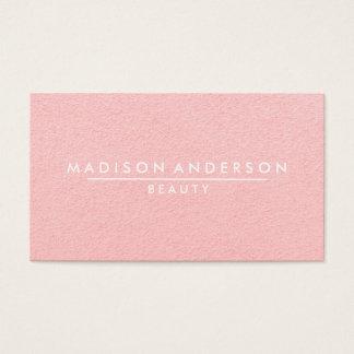モダンなシンプル及びクラシックの美しいのピンク 名刺