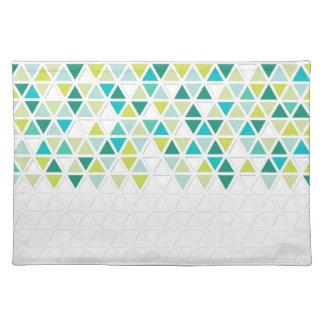 モダンなスタイルの三角形パターン三角の幾何学的 ランチョンマット