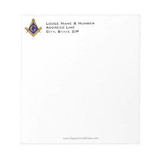 モダンなスタイルフリーメーソンのロッジのメモ帳 ノートパッド