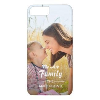 モダンなタイポグラフィの家族写真のポートレート iPhone 8 PLUS/7 PLUSケース