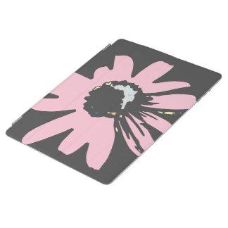 モダンなデイジーの淡いピンクおよび黒いパターン iPadスマートカバー