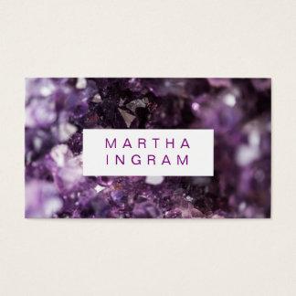 モダンなデザインのはっきりしたな紫色の紫色の水晶 名刺