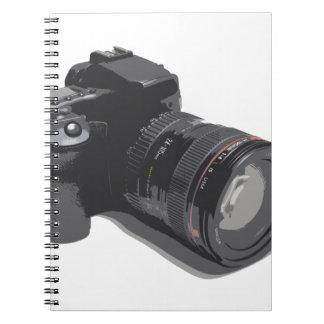 モダンなデジタルカメラ ノートブック