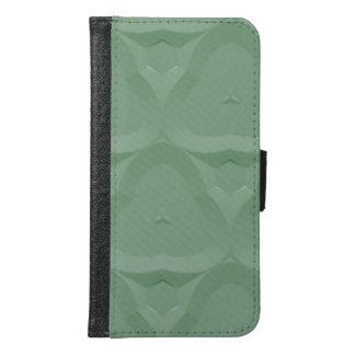 モダンなトレンディーのカッコいいの緑パターン GALAXY S6 ウォレットケース