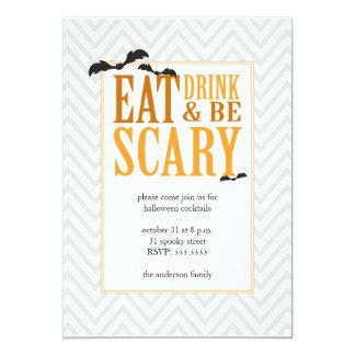モダンなハローウィンパーティの招待状 カード