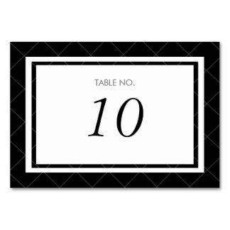 モダンなハートのテーブル数カード