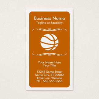 モダンなバスケットボールのロイヤリティカード 名刺