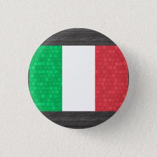 モダンなパターンイタリア人の旗 缶バッジ