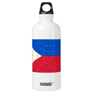 モダンなパターンフィリピン人の旗 ウォーターボトル