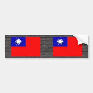 モダンなパターン台湾人の旗 バンパーステッカー