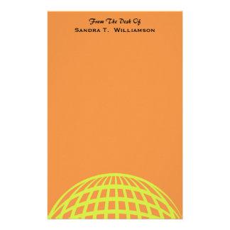 モダンなビジネス黄橙色の円のデザイン 便箋