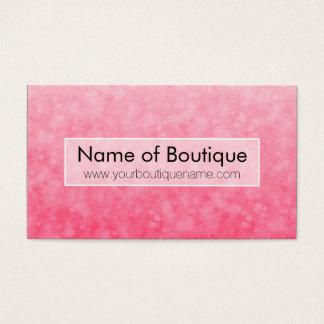 モダンなピンクのファッションのブティックの柔らかくシックな《写真》ぼけ味 名刺