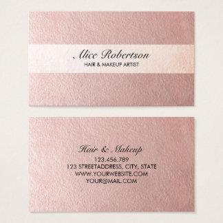 モダンなピンクの光沢があるスタイル 名刺