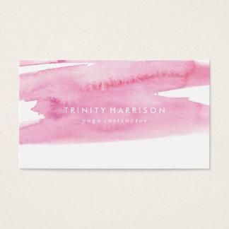 モダンなピンクの水彩画の洗浄 名刺