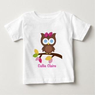 モダンなフクロウのデザインの誕生日のパーティの招待状の好意 ベビーTシャツ