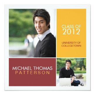モダンなブロック大学卒業の発表 カード
