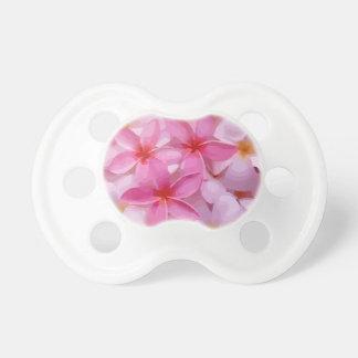 モダンなプルメリア-抽象的なピンクの花 おしゃぶり