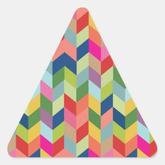 モダンなヘリンボンパターン 三角形シール