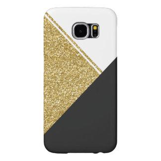 モダンなホワイトゴールドの黒の三角形 SAMSUNG GALAXY S6 ケース