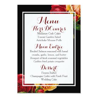 モダンなボヘミアの結婚式メニュー カード