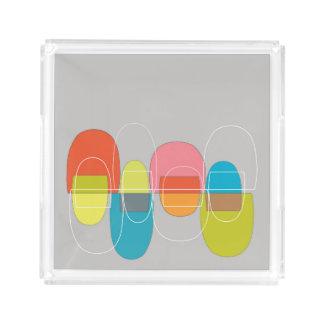 モダンなポッドの多彩な皿 トレー