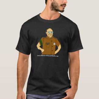 モダンなマウスのラジオのサファリの印のTシャツ Tシャツ