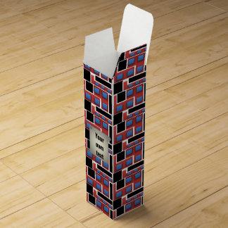 モダンなミニマリズムの幾何学的な抽象芸術 ワインギフトボックス
