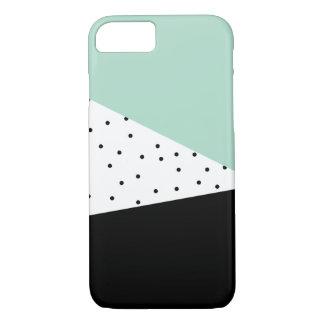 モダンなミントおよび黒いiPhoneの箱 iPhone 8/7ケース