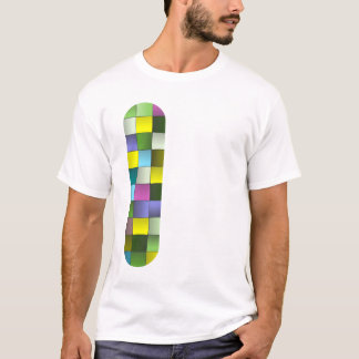 モダンなモザイクによって編まれるパターン Tシャツ