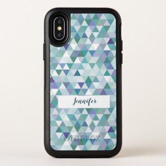 モダンなモノグラムのスタイルの幾何学的なパターン オッターボックスシンメトリー iPhone X ケース