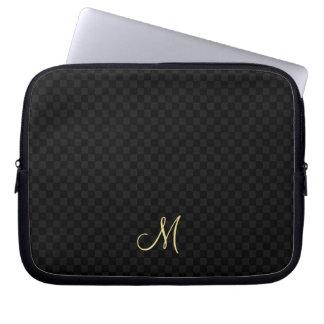 モダンなモノグラムパターンラップトップスリーブの箱のバッグ ラップトップスリーブ