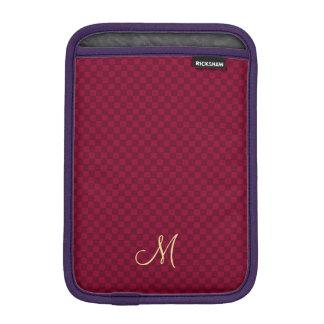 モダンなモノグラムパターン耐久のiPadの袖の箱 iPad Miniスリーブ