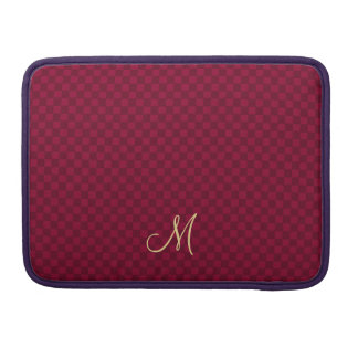 モダンなモノグラムパターンMacBookのプロ袖の箱 MacBook Proスリーブ
