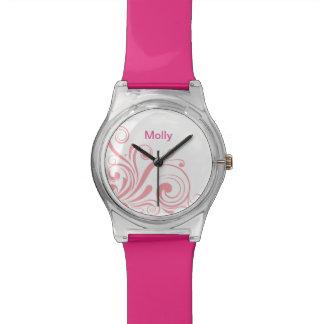 モダンなモノグラム 腕時計