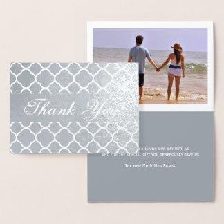 モダンなモロッコパターンありがとう 箔カード