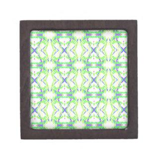 モダンなライトおよび空気のような青緑の種族パターン ギフトボックス
