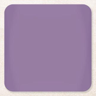 モダンなラベンダーの紫色のカスタマイズ可能 スクエアペーパーコースター