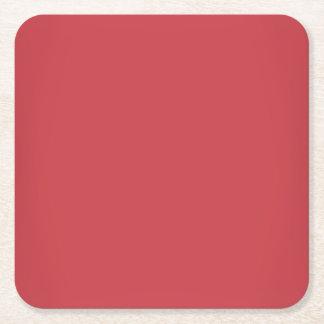 モダンなルビー色の赤いカスタマイズ可能 スクエアペーパーコースター