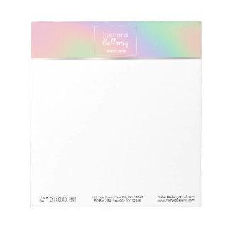 モダンなレーザー光線写真虹の金属-メモ帳 ノートパッド