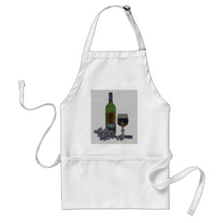 モダンなワインおよびブドウの芸術のエプロン スタンダードエプロン