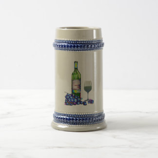 モダンなワインおよびブドウの芸術のギフト ビールジョッキ