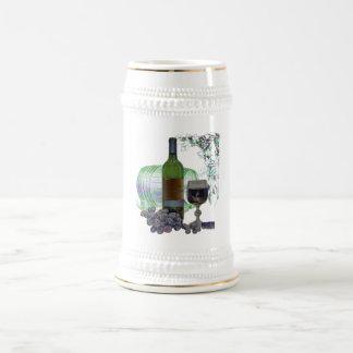 モダンなワインおよびブドウの芸術 ビールジョッキ