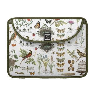 モダンなヴィンテージのフランスのな植物の鳥および花 MacBook PROスリーブ