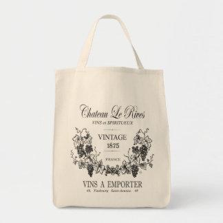 モダンなヴィンテージのフランスのな穀物の嚢のワイン トートバッグ
