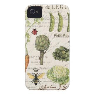 モダンなヴィンテージのフランスのな菜園 Case-Mate iPhone 4 ケース